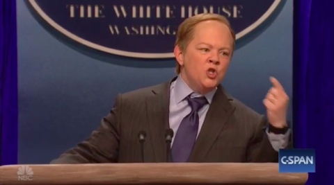 Melissa McCarthy Does a Perfect, Terrifying Sean Spicer Impression on SNL