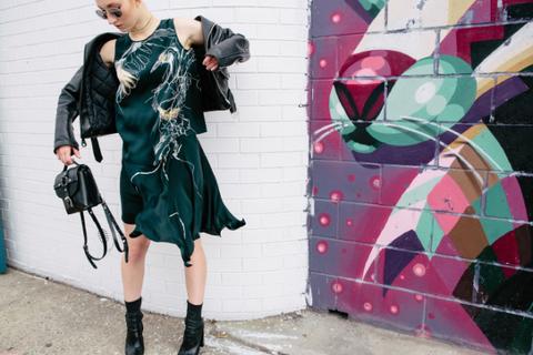 Bag, Style, Street fashion, Fashion accessory, Dress, Pattern, Fashion, Art, Boot, Leather,