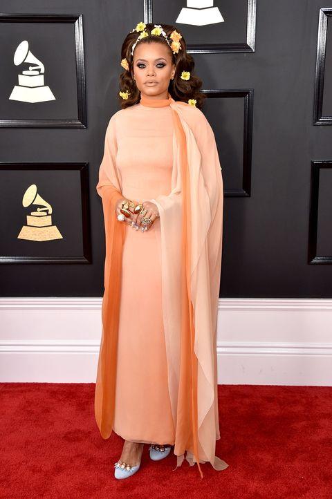 Human, Flooring, Dress, Style, Peach, Fashion, Headpiece, One-piece garment, Hair accessory, Carpet,