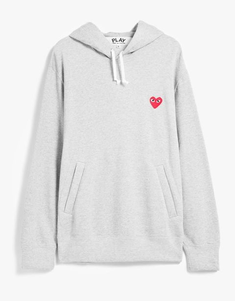 "<p>Comme des Garcon Play, Play Hooded Sweatshirt, $302; <a href=""http://needsupply.com/play-hooded-sweatshirt-in-grey.html"">needsupply.com</a></p>"