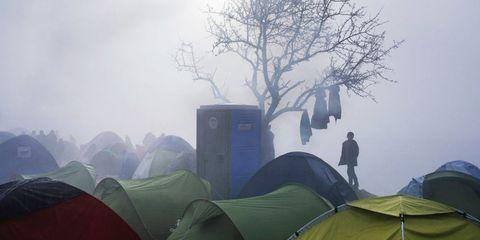 Atmosphere, Atmospheric phenomenon, Tent, Style, Camping, Mist, Haze, World, Morning, Tarpaulin,