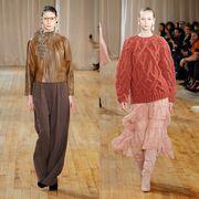 Sleeve, Style, Formal wear, Waist, Fashion, Neck, Pattern, Fashion model, Fashion design, Wood flooring,