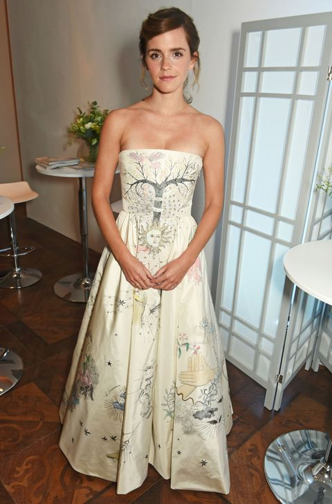 Emma Watson in White Christian Dior Haute Couture Gown at ELLE UK ...