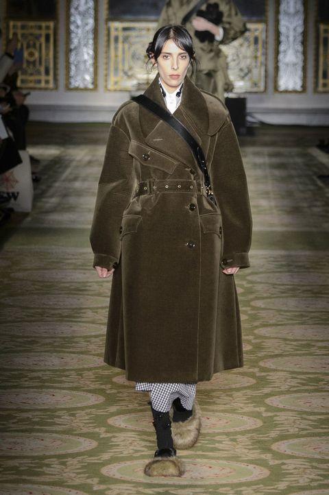 Sleeve, Coat, Textile, Joint, Outerwear, Floor, Style, Overcoat, Flooring, Fashion,