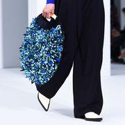 Blue, Cobalt blue, Black, Fashion, Electric blue, Footwear, Leg, Shoulder, Joint, Shoe,