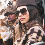 Eyewear, Vision care, Textile, Sunglasses, Fashion accessory, Hat, Headgear, Costume accessory, Street fashion, Fashion,