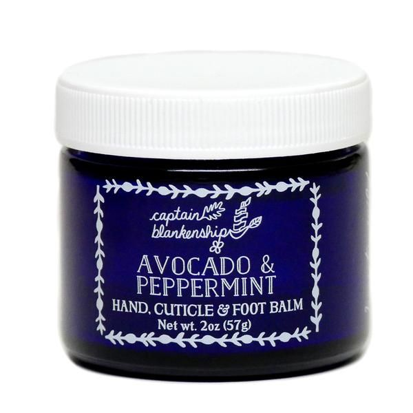 "<p>A mega mix of organic oils and butters in this rich salve softens roughed up soles.</p><p>$24, <a href=""https://captainblankenship.com/products/avocado-peppermint-cuticle-and-foot-balm"" data-tracking-id=""recirc-text-link"">captainblankenship.com</a></p><p><br></p>"