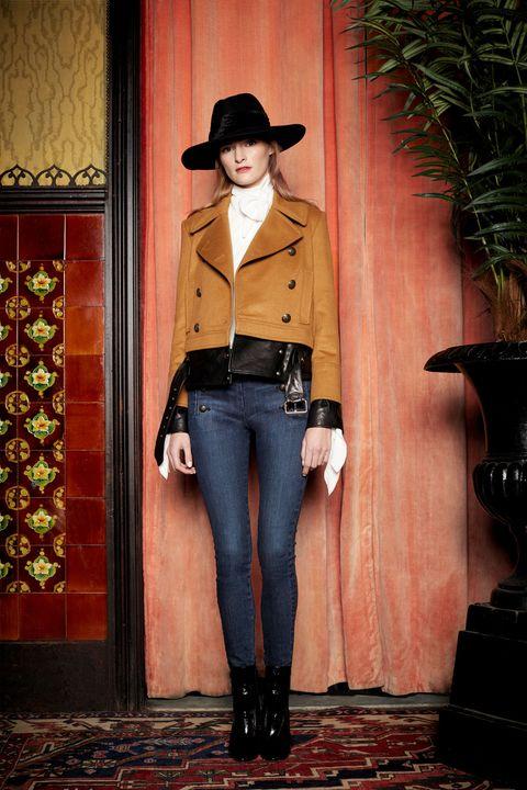 Clothing, Hat, Sleeve, Flowerpot, Textile, Denim, Outerwear, Style, Fashion accessory, Street fashion,