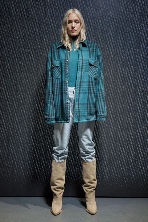 Clothing, Sleeve, Collar, Textile, Shoe, Outerwear, Boot, Style, Riding boot, Jacket,