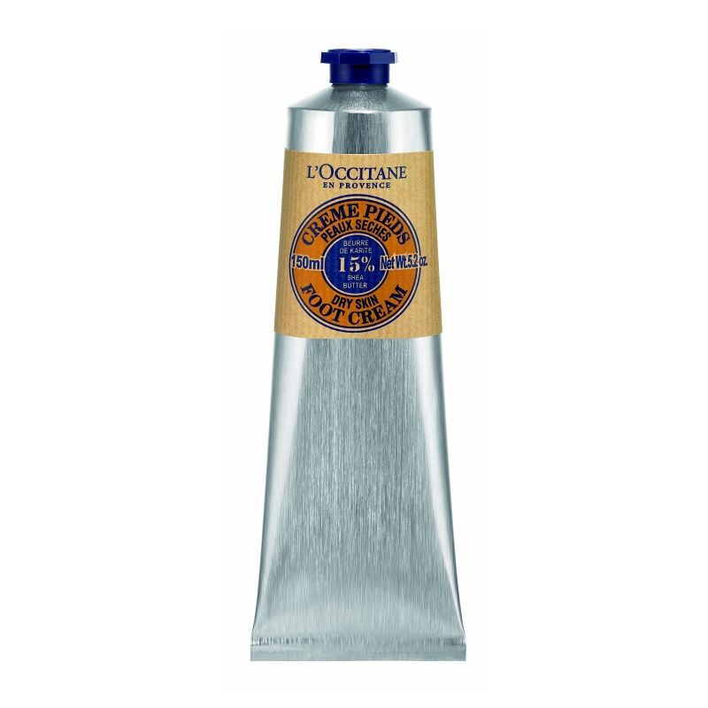 """<p>The French brand's known for its shea butter hand cream and the foot version is equally awesome. With the addition of arnica and lavender oil, it soothes weary feet.</p><p>$28 for 5.2 oz., <a href=""""http://usa.loccitane.com/shea-butter-foot-cream,82,1,29193,261662.htm#s=76458"""" data-tracking-id=""""recirc-text-link"""">usa.loccitane.com</a></p><p><br></p>"""
