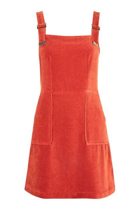 48746b77b7 Topshop Cord Velvet Pinafore Dress