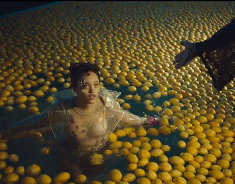 Yellow, Chest, Trunk, Abdomen, Ball, Bathing, Stomach, Mythology,