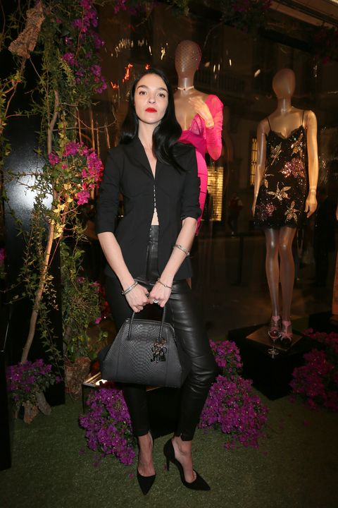 "<p>At the La Perla flagship boutique opening on February 23, 2017 in Milan, Italy.<span class=""redactor-invisible-space"" data-verified=""redactor"" data-redactor-tag=""span"" data-redactor-class=""redactor-invisible-space""></span></p>"