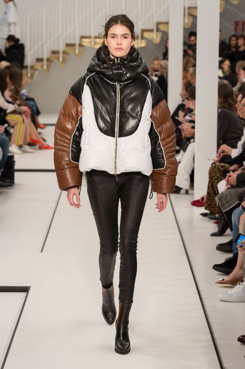 Leg, Brown, Trousers, Shoulder, Textile, Joint, Outerwear, Style, Fashion show, Fashion model,