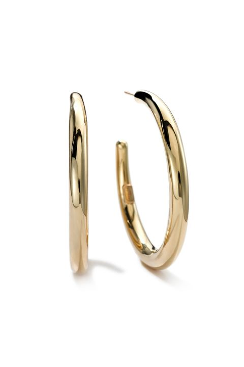"""<p>          Ippolita 18K Gold #3 Smooth Hoop Earrings, $1,695; <a href=""""http://www.neimanmarcus.com/Ippolita-18K-Gold-3-Smooth-Hoop-Earrings/prod175060029/p.prod?icid=&amp;searchType=MAIN&amp;rte=%2Fsearch.jsp%3Ffrom%3DbrSearch%26request_type%3Dsearch%26search_type%3Dkeyword%26q%3Dhoop+earrings&amp;eItemId=prod175060029&amp;cmCat=search&amp;tc=97&amp;currentItemCount=27&amp;q=hoop+earrings&amp;searchURL=/search.jsp%3Ffrom%3DbrSearch%26start%3D0%26rows%3D30%26q%3Dhoop+earrings%26l%3Dhoop+earrings%26request_type%3Dsearch%26search_type%3Dkeyword"""">neimanmarcus.com</a>  <span class=""""redactor-invisible-space"""" data-verified=""""redactor"""" data-redactor-tag=""""span"""" data-redactor-class=""""redactor-invisible-space""""></span></p>"""