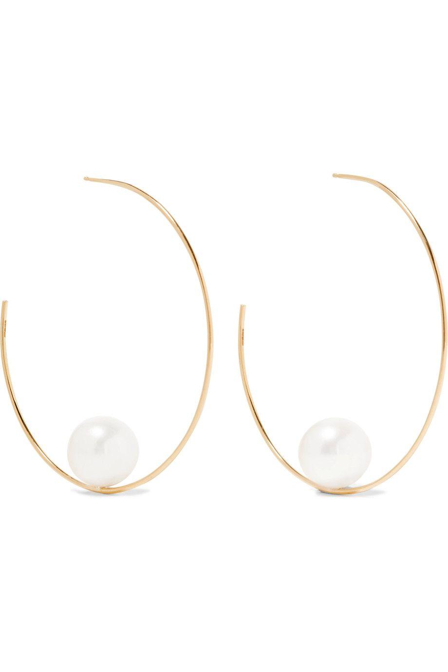 "<p>Mizuki, 14 Karat Gold Pearl earring, $1,990;<a href=""https://www.net-a-porter.com/us/en/product/800962/mizuki/14-karat-gold-pearl-earrings"">net-a-porter.com</a></p>"