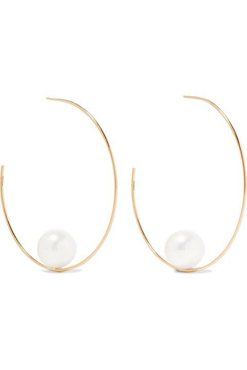 "<p>Mizuki, 14 Karat Gold Pearl earring, $1,990;&nbsp;<a href=""https://www.net-a-porter.com/us/en/product/800962/mizuki/14-karat-gold-pearl-earrings"">net-a-porter.com</a></p>"