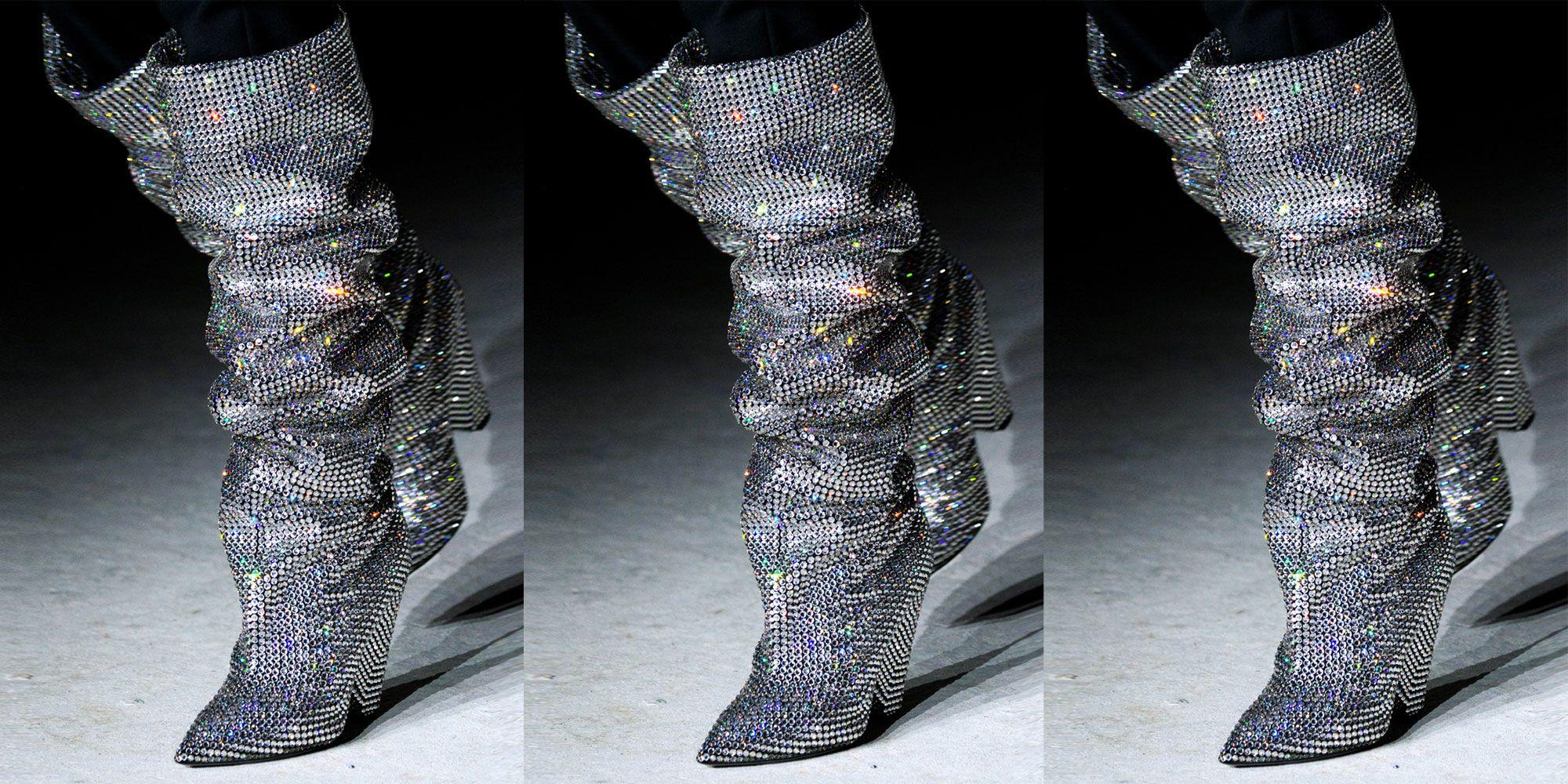 Saint LaurentGlitter Boots daIuzYL