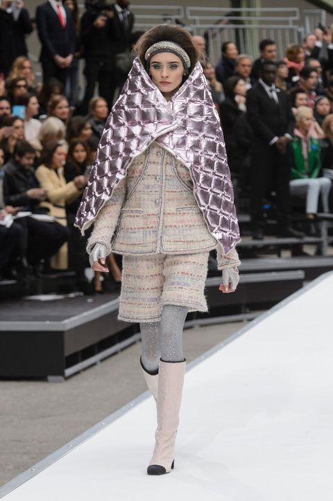 Fashion, Fashion show, Fashion model, Runway, Clothing, Fur, Street fashion, Outerwear, Fur clothing, Haute couture,