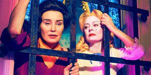 "<p>The first season of Ryan Murphy's new anthology series will dramatize the bad blood between Bette Davis (Susan Sarandon) and Joan Crawford (Jessica Lange) during the making of <i data-redactor-tag=""i"">What Ever Happened To Baby Jane?—</i>a rivalry which&nbsp&#x3B;became the stuff of Hollywood legend.&nbsp&#x3B;<span class=""redactor-invisible-space"" data-verified=""redactor"" data-redactor-tag=""span"" data-redactor-class=""redactor-invisible-space""></span></p><p><em data-verified=""redactor"" data-redactor-tag=""em"">Feud: Betty and Joan<span class=""redactor-invisible-space""></span></em><span class=""redactor-invisible-space""> premieres Sunday, March 5 on FX.</span><br></p>"