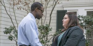 Sterling K Brown as Randall and Chrissy Metz as Kate in 'This Is Us'