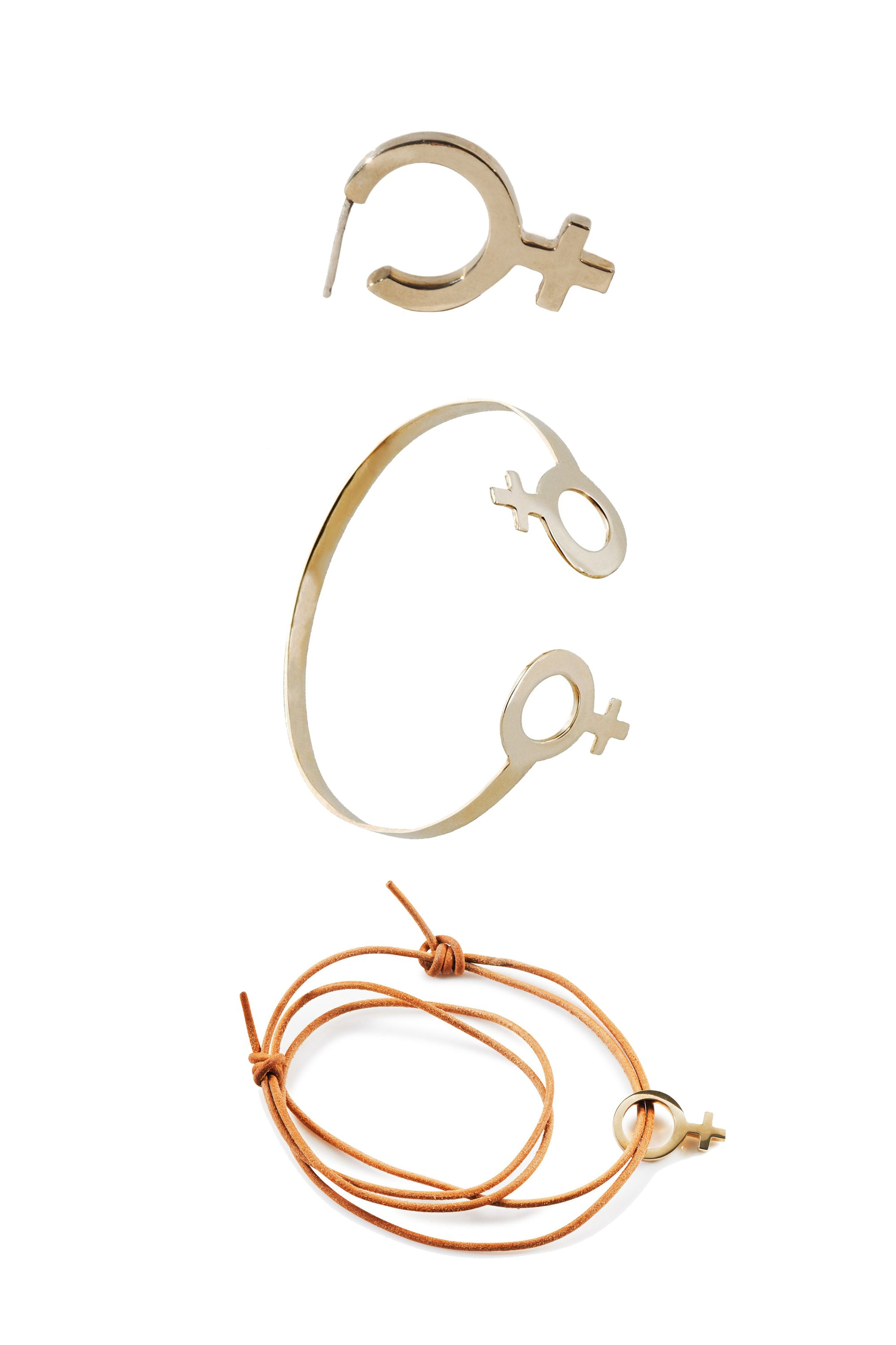 """<p>Brooklyn-based jewelry designer Charlotte Cauwe launched her Female Collection featuring a modern approach to the classic symbol. 25 percentof the proceeds from this three-piece collection will go toward Planned Parenthood.</p><p><em data-redactor-tag=""""em"""" data-verified=""""redactor"""">Charlotte Cauwe Female Collection, $75 to 135;</em><a href=""""http://www.charlottecauwe.com/new-products/?category=FEMALE+COLLECTION"""" data-tracking-id=""""recirc-text-link""""><em data-redactor-tag=""""em"""" data-verified=""""redactor"""">charlottecauwe.com</em></a></p>"""