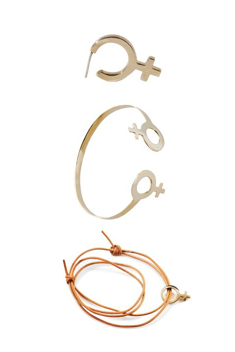"""<p>Brooklyn-based jewelry designer Charlotte Cauwe launched her Female Collection featuring a modern approach to the classic symbol. 25 percent&nbsp;of the proceeds from this three-piece collection will go toward Planned Parenthood.&nbsp;</p><p><em data-redactor-tag=""""em"""" data-verified=""""redactor"""">Charlotte Cauwe Female Collection, $75 to 135;&nbsp;</em><a href=""""http://www.charlottecauwe.com/new-products/?category=FEMALE+COLLECTION"""" data-tracking-id=""""recirc-text-link""""><em data-redactor-tag=""""em"""" data-verified=""""redactor"""">charlottecauwe.com</em></a></p>"""