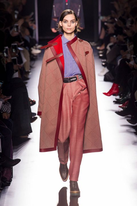 Fashion, Fashion show, Fashion model, Runway, Clothing, Outerwear, Fashion design, Haute couture, Human, Coat,