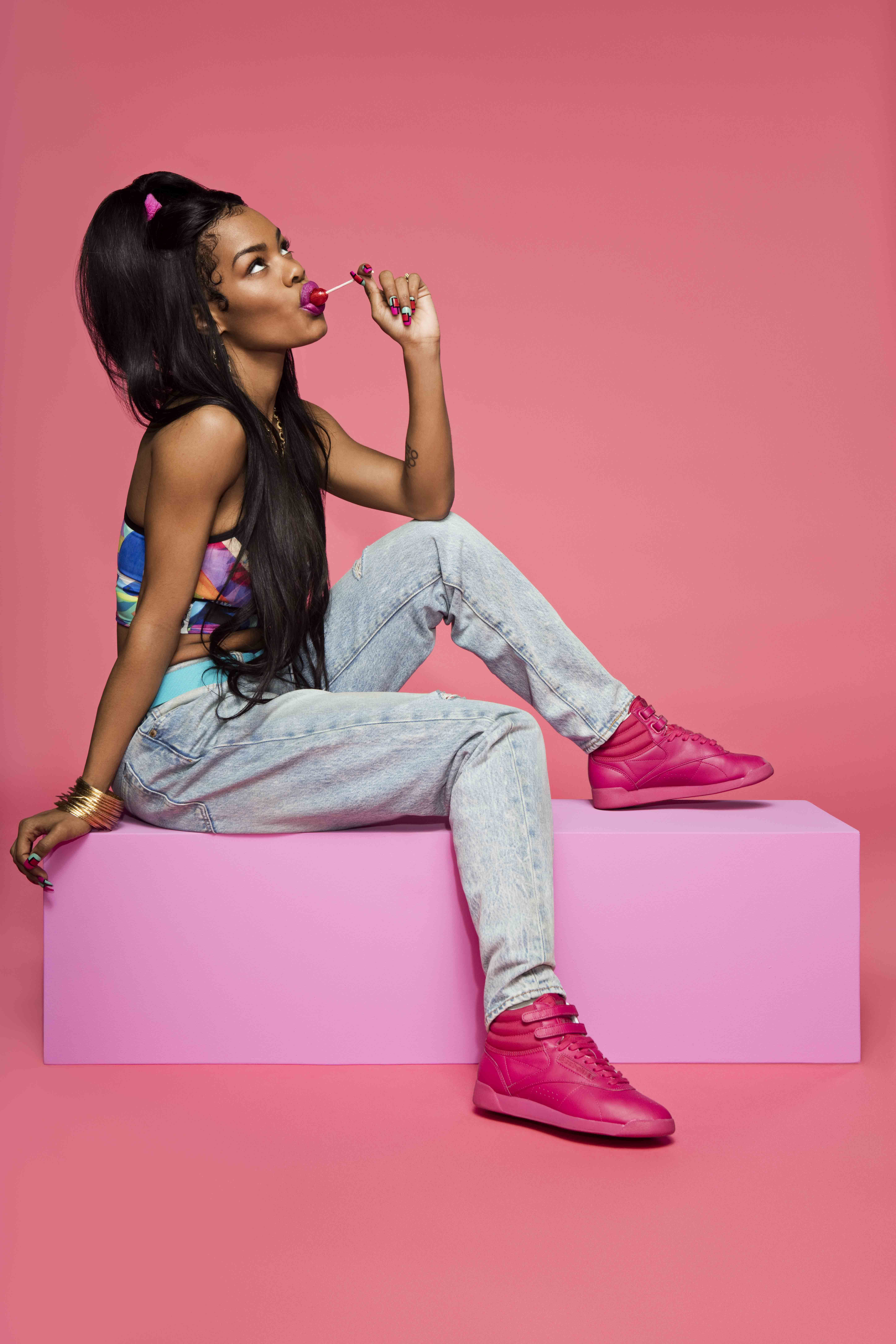 Teyana Taylor s Latest Reebok Campaign Will Make You Want to Ditch White  Sneakers b30b28f8a