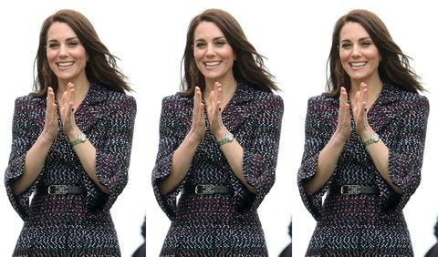 Clothing, Arm, Smile, People, Sleeve, Dress, Pattern, Happy, Formal wear, Facial expression,