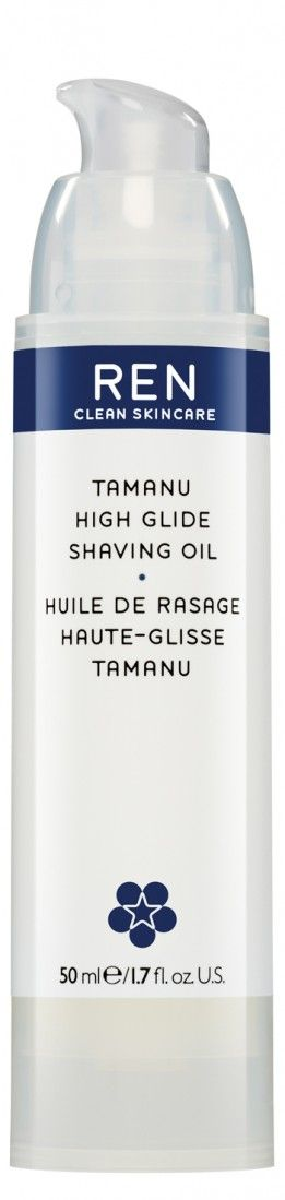 """<p>You're already using oils in your hair and face so why not include it in your shaving routine? This slick option contains super nourishing Tahitian Tamanu Oil.</p><p><em data-redactor-tag=""""em"""" data-verified=""""redactor"""">$28, </em><a href=""""https://www.renskincare.com/usa/tamanu-high-glide-shaving-oil.html?gclid=COH5iOWBzdICFR5MDQodQMEFMw"""" data-tracking-id=""""recirc-text-link""""><em data-redactor-tag=""""em"""" data-verified=""""redactor"""">renskincare.com</em></a></p>"""