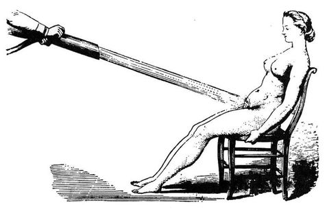 "<p>The first vibrator is credited to physician <a href=""https://itp.nyu.edu/classes/germline-spring2013/files/2013/01/Maines-Vibrator-Research.pdf"">George Taylor in 1869</a>. The vibrator's original purpose was to relieve symptoms of <a href=""https://www.psychologytoday.com/blog/all-about-sex/201303/hysteria-and-the-strange-history-vibrators"">depression and anxiety in women, known as hysteria</a> (derived from the <a href=""http://academic.mu.edu/meissnerd/hysteria.html"">Greek word for ""uterus,""</a> the mysterious lady part men obviously think makes us crazy).</p><p>Documentation of hysteria dates <a href=""https://www.ncbi.nlm.nih.gov/pmc/articles/PMC3480686/"">back to the 13th century</a>, but it was Sigmund Freud who relegated the disease strictly to women. Before the vibrator came into play in the 19th century, <a href=""http://www.nejm.org/doi/full/10.1056/NEJM200006223422521#t=article"">doctors would simply finger women on their operating tables (called a ""pelvic massage"")</a> and send them on their way.</p>"