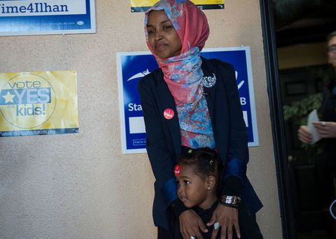 Ilhan Omar on election day 2016