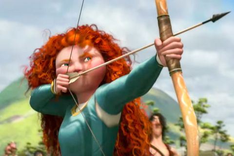 <p>In this animated adventure, spunky Scottish princess Merida (Kelly MacDonald) becomes the best archer in the kingdom. But she and her mother Queen Elinor (Emma Thompson) butt heads when it comes time for Merida to choose a husband. Merida flees to the woods, where a magic spell turns her mother into a bear. It's up to the determined redhead to save her mother and, like in life (well, sometimes), the problems bring mother and daughter closer than ever. <br></p>
