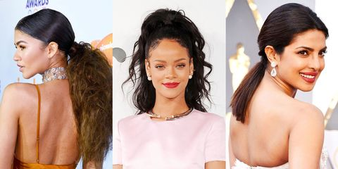 23 Cute Ponytail Hairstyles - Best Celebrity Ponytails of 2017 - ELLE