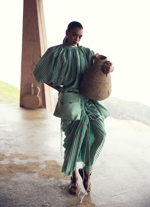 Green, Fashion, Outerwear, Human, Sari, Photography, Stock photography, Fashion design,