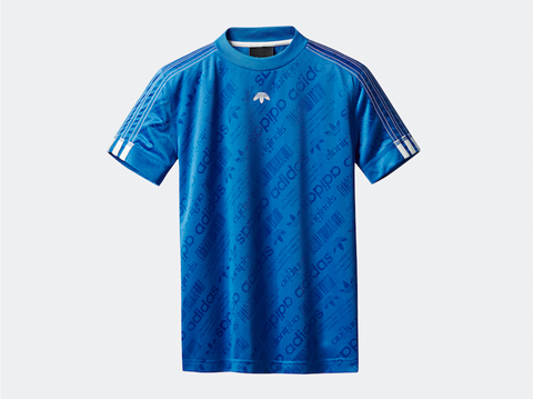 T-shirt, Clothing, Blue, Active shirt, Sleeve, Sportswear, Turquoise, Jersey, Electric blue, Font,