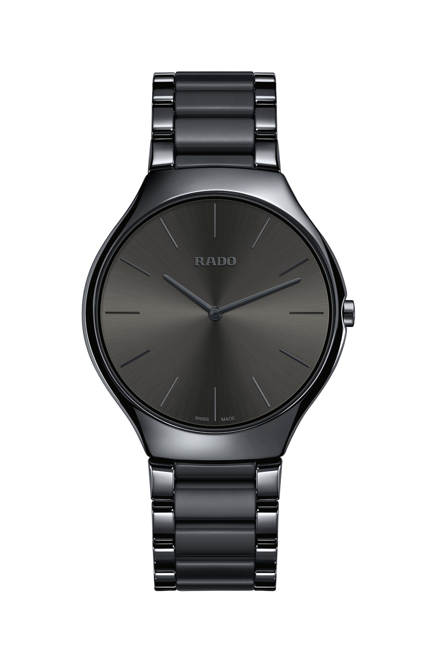 "<p>Rado, best known for its innovative ceramic watches, added four new colors (blue, green, gray, and brown) to the True Thinline collection for 2017. Their slimmest timepiece yet measures&nbsp&#x3B;a mere 4.9mm&nbsp&#x3B;and is&nbsp&#x3B;super lightweight, scratch resistant, and, most interestingly, hypoallergenic. Plus, when is top-to-bottom charcoal <em data-redactor-tag=""em"" data-verified=""redactor"">not</em><span class=""redactor-invisible-space"" data-verified=""redactor"" data-redactor-tag=""span"" data-redactor-class=""redactor-invisible-space""> in style?</span>