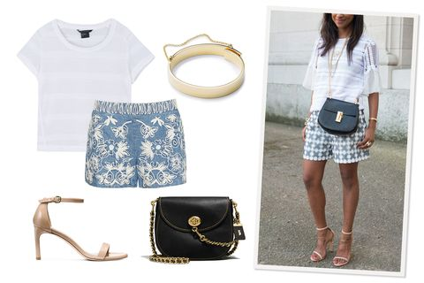 "<p>Witness the totally wearable, impressively unfussy crop top: It looks all grown up&nbsp;with leg-lengthening shorts, sexy heeled sandals, and glitzy jewelry.</p><p><em data-redactor-tag=""em"" data-verified=""redactor"">Armani Exchange S/S Knit Top, $70, <a href=""http://bit.ly/2qaZWPz"" data-tracking-id=""recirc-text-link"">armaniexchange.com</a>; Coach Turnlock Saddle Bag, $495, <a href=""http://www.coach.com/coach-turnlock-saddle-in-glovetanned-leather/59241.html?dwvar_color=OLBLK"" target=""_blank"" data-tracking-id=""recirc-text-link"">coach.com</a>; Alice and Olivia Marisa Embroidered Back Zip Shorts, $285, <a href=""https://www.aliceandolivia.com/marisa-embroidered-back-zip-shorts-cc703d56606.html"" target=""_blank"" data-tracking-id=""recirc-text-link"">aliceandolivia.com</a>; Eddie Borgo Medium Safety Chain Cuff, $250, <a href=""http://www.eddieborgo.com/jewelry/bracelets/medium-safety-chain-cuff-gold"" target=""_blank"" data-tracking-id=""recirc-text-link"">eddieborgo.com</a>; Stuart Weitzman The Nunakedstraight Sandals, $398, </em><a href=""http://www.stuartweitzman.com/products/nunakedstraight/beige-patent/?DepartmentId=360&amp;DepartmentGroupId=3"" target=""_blank"" data-tracking-id=""recirc-text-link""><em data-redactor-tag=""em"" data-verified=""redactor"">stuartweitzman.com</em></a></p>"