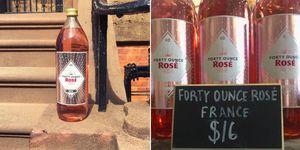 40 oz of rose wine