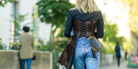 Jeans, Clothing, Street fashion, Denim, Fashion, Outerwear, Waist, Textile, Jacket, Leather,