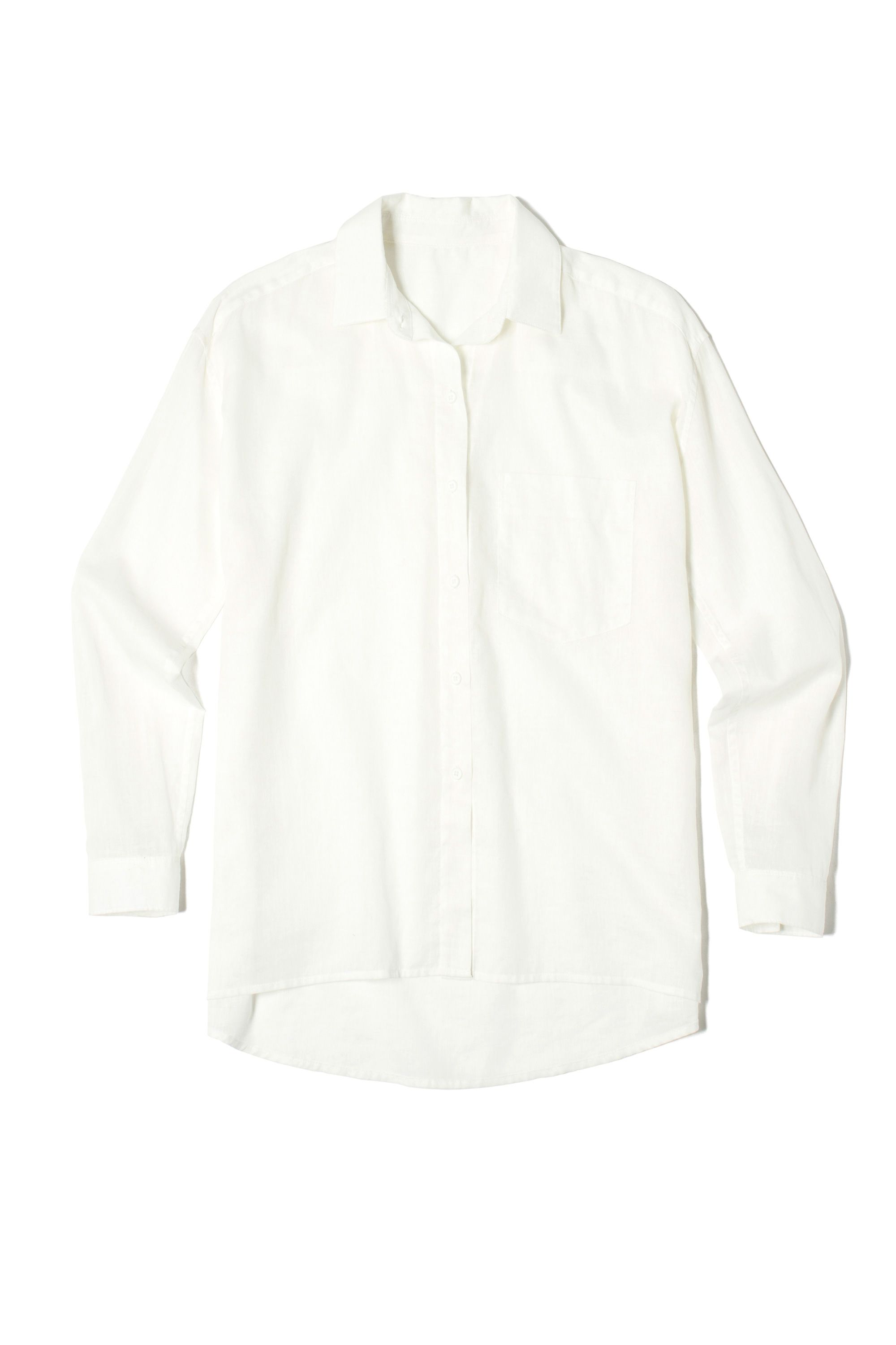 """<p>A breezy white button-downcan be styled in a ton of different ways: tuck, button, or knot it (or leave it open to fly freely in the breeze).</p><p><em data-redactor-tag=""""em"""" data-verified=""""redactor"""">Everlane The Relaxed Cotton Shirt, $65; </em><a href=""""https://www.everlane.com/products/womens-relaxed-poplin-shirt-white?collection=womens-tops"""" target=""""_blank"""" data-tracking-id=""""recirc-text-link""""><em data-redactor-tag=""""em"""" data-verified=""""redactor"""">everlane.com</em></a></p>"""