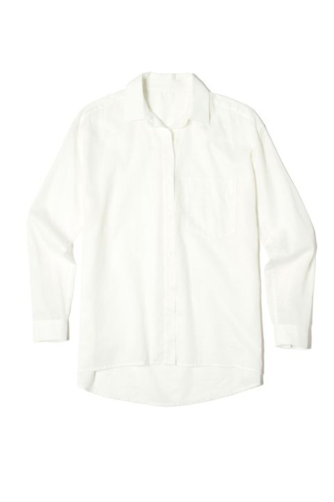 """<p>A breezy white button-down&nbsp;can be styled in a ton of different ways: tuck, button, or knot it (or leave it open to fly freely in the breeze).&nbsp;</p><p><em data-redactor-tag=""""em"""" data-verified=""""redactor"""">Everlane The Relaxed Cotton Shirt, $65; </em><a href=""""https://www.everlane.com/products/womens-relaxed-poplin-shirt-white?collection=womens-tops"""" target=""""_blank"""" data-tracking-id=""""recirc-text-link""""><em data-redactor-tag=""""em"""" data-verified=""""redactor"""">everlane.com</em></a></p>"""