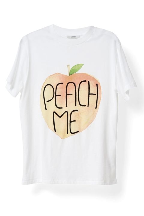 """<p>From their sweaters to their girly dresses to their graphic tees, I seriously love everything about this Australian brand. Bonus points for the somewhat affordable price point and cool&nbsp;patterns and prints. — Kia Goosby, Fashion Assistant</p><p><i data-redactor-tag=""""i"""">Ganni Harvard T-Shirt, €59; <a href=""""http://www.ganni.com/shop/tops-and-t-shirts/harvard-t-shirt%2C-peache-me/T1743.html?dwvar_T1743_color=Bright%20White#page=2-4&amp;start=28"""">ganni.com</a></i></p>"""
