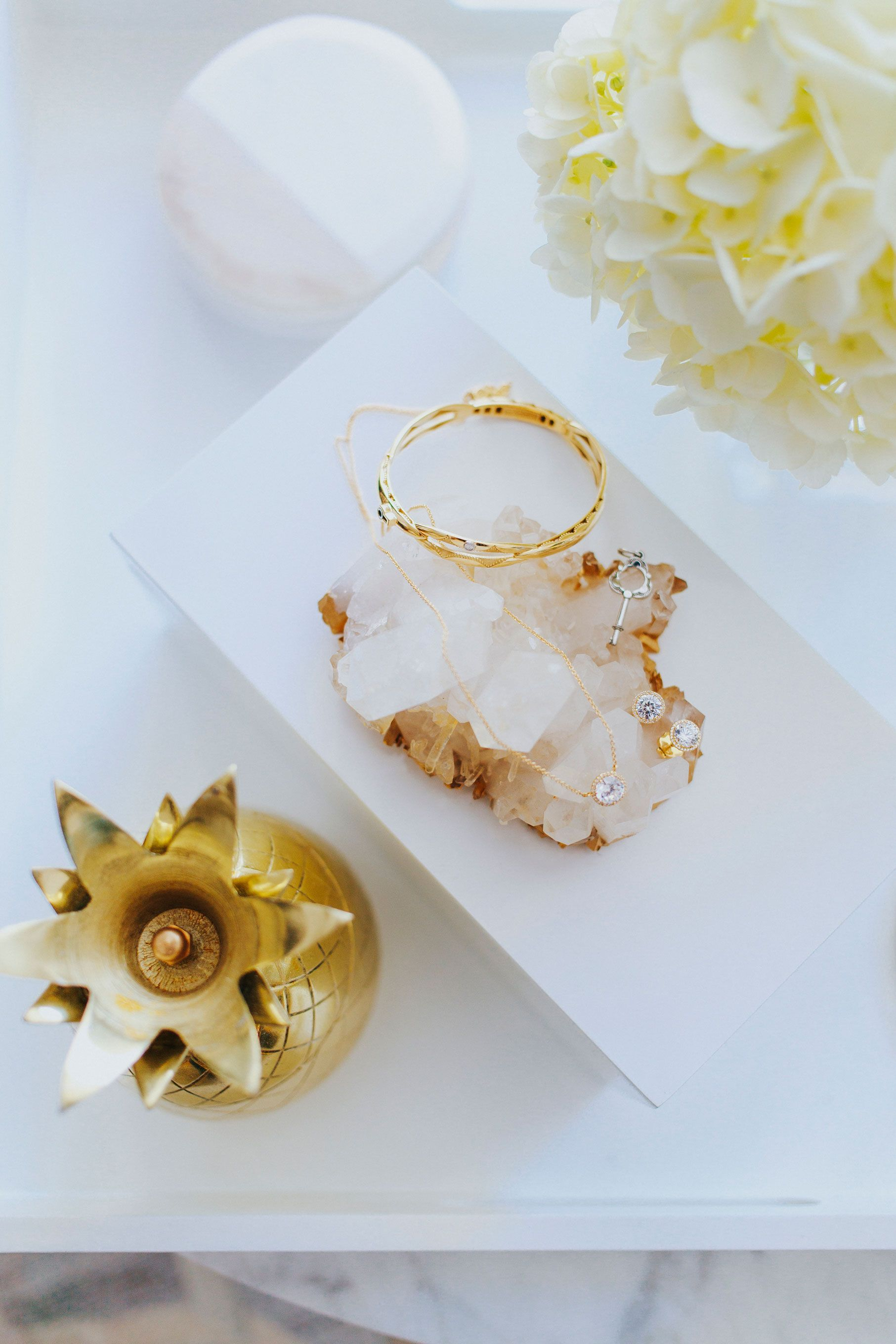 """<p>""""I'm obsessed with the feminine details of these handcrafted pieces by Tacori.<span class=""""redactor-invisible-space"""" data-verified=""""redactor"""" data-redactor-tag=""""span"""" data-redactor-class=""""redactor-invisible-space""""></span>""""</p><p><em data-redactor-tag=""""em"""" data-verified=""""redactor"""">Tacori Oval Promise Bracelet Yellow Gold, $5,900; Encore Diamond Necklace*, $1,310; Encore Diamond Stud Earrings*, $1,790; Oval Promise Bracelet Silver and Rose Gold, $2,700; Crescent Station Necklace London Blue Topaz, $500; Crescent Crown Stud Earrings London Blue Topaz, $650; *center diamond not included; <a href=""""https://www.tacori.com/"""" data-tracking-id=""""recirc-text-link"""">tacori.com</a></em></p>"""