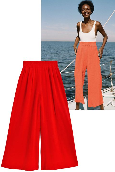 """<p>Add a pair of culottes over a one-piece or a bikini for a look that works both on and off the beach.&nbsp;</p><p><strong data-redactor-tag=""""strong"""" data-verified=""""redactor"""">Shop the look: Mara Hoffman</strong> pants, $185, <a href=""""http://www.marahoffman.com/ready-to-wear/bottoms/beach-pant-1"""" target=""""_blank"""" data-tracking-id=""""recirc-text-link"""">marahoffman.com</a>.&nbsp;</p><p><br></p>"""
