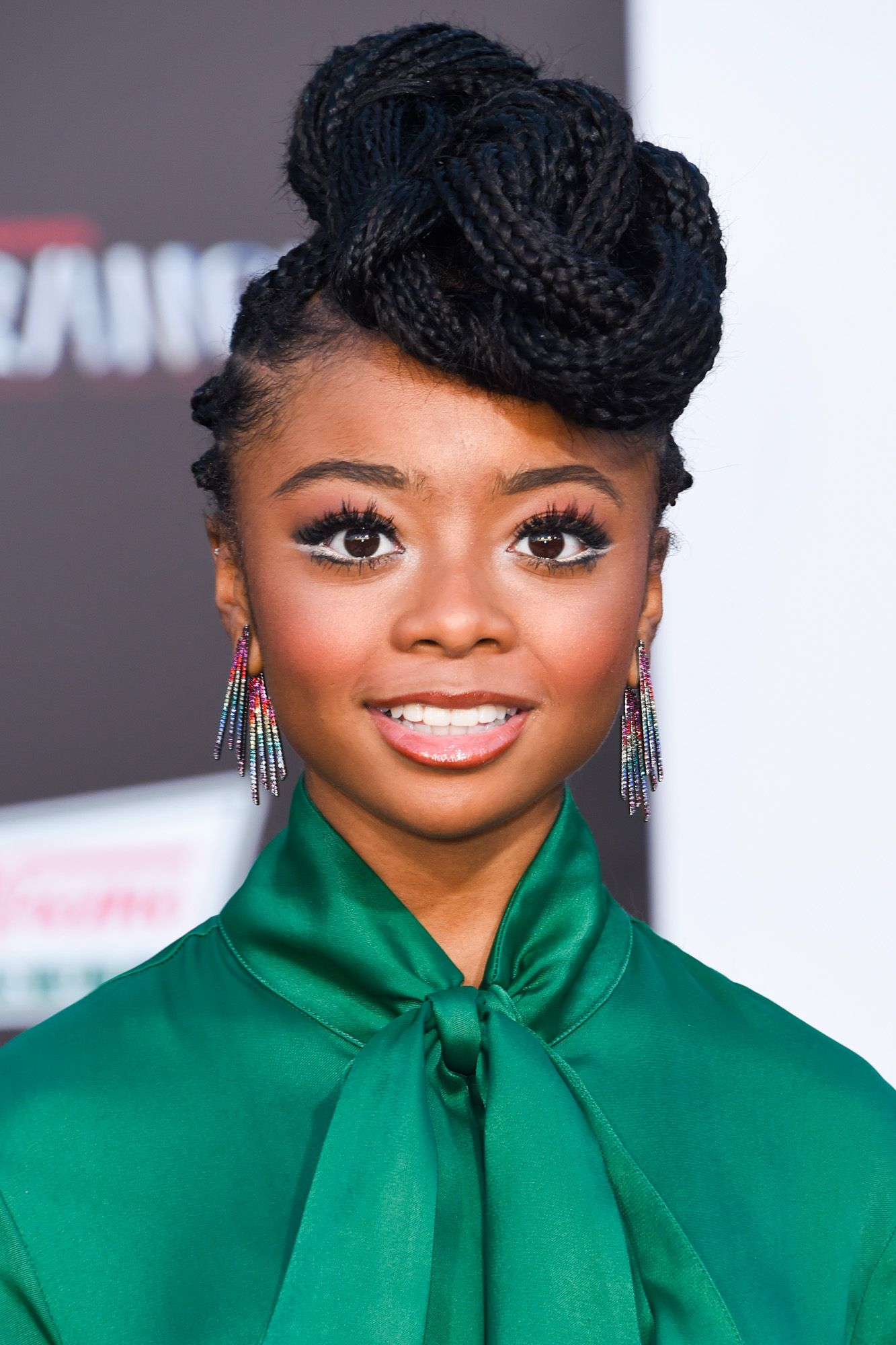 Skai Jackson Jackson's intricate top knot completely elevates her braided look.