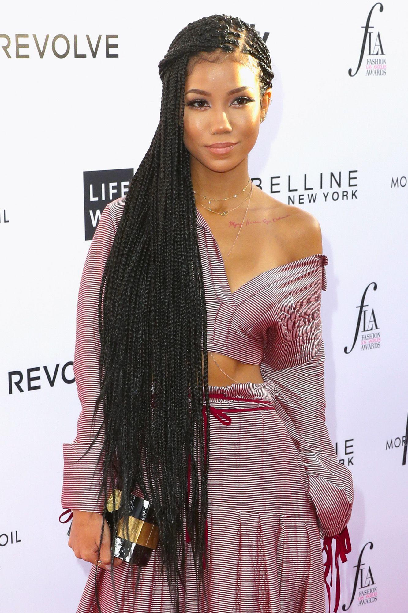 Jhené Aiko Aiko makes a statement in hip-length braids.