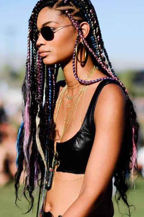 Hairstyle, Skin, Style, Black hair, Fashion accessory, Beauty, Cornrows, Jewellery, Abdomen, Trunk,