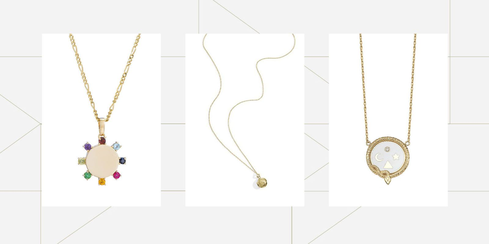 15 Delicate Gold Necklaces We Love in 2017 Minimalist Gold Necklaces